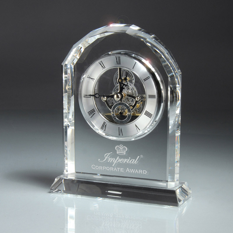 Optic Crystal Desk Clock
