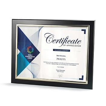 Certificate Frame with Silver Metallized Accent