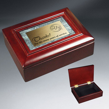 Rosewood Piano and Marble Gift Box