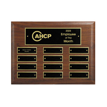 12-Plate Perpetual Plaque - Horizontal