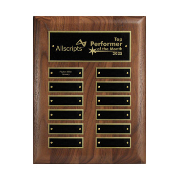 12-Plate Perpetual Plaque - Vertical