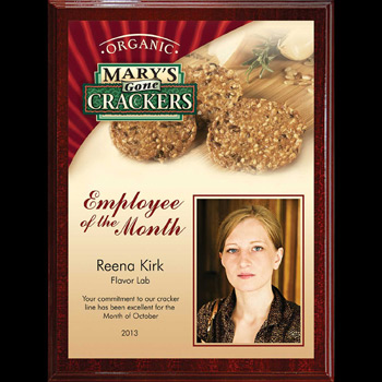 Extra-Large Digi-Color Direct Walnut Finish Plaque