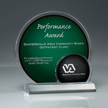 Arched Brilliance Lucite Award on Clear Base (Includes Laser in 2 Locations)