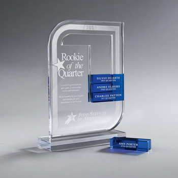 Clear Lucite Perpetual Award - Small (Glass Bars Sold Separately)