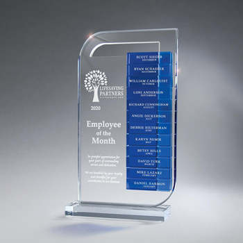 Clear Lucite Perpetual Award - Large (Glass Bars Sold Separately)