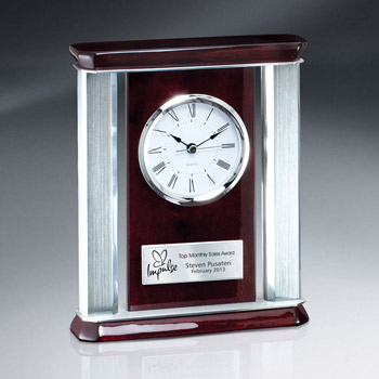 Rosewood Piano Finish Desk Clock