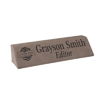 Leatherette Name Bar
