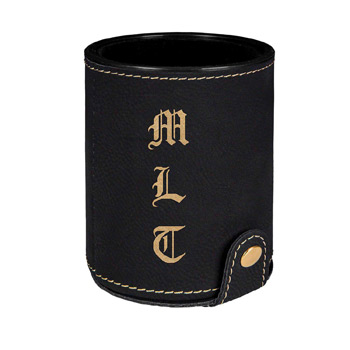 Leatherette Dice Cup Set