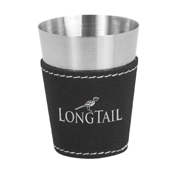 Leatherette on Steel Shot Glass