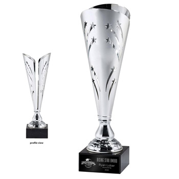 Silver Star Cutout Trophy Cup - Medium