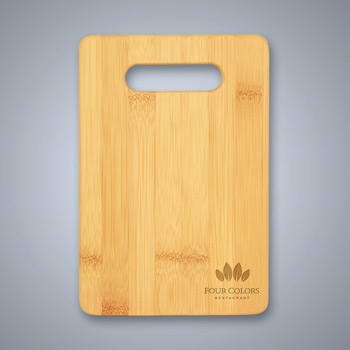 Bamboo Cutting Board with Handle Cutout - Small