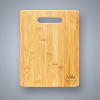 Bamboo Cutting Board with Handle Cutout - Large