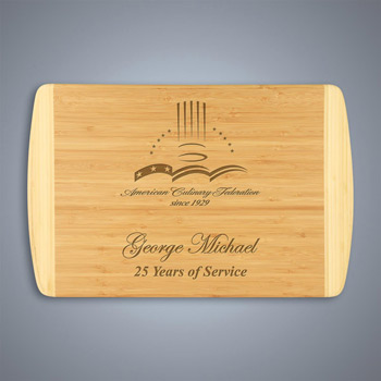 2-Tone Bamboo Cutting Board - Large