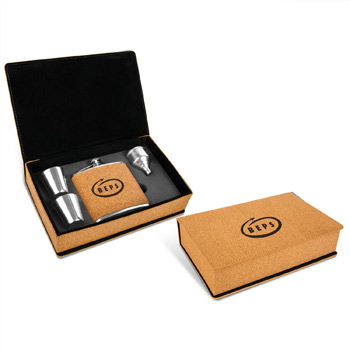 Cork Flask Gift Set