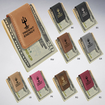Leatherette Money Clip