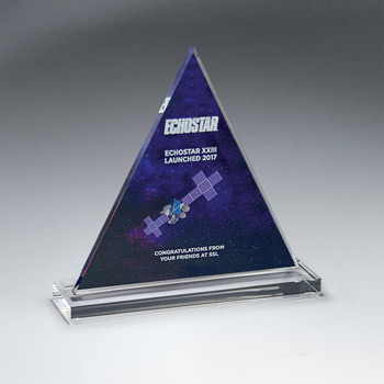 Clear Acrylic Triangle on Clear Base