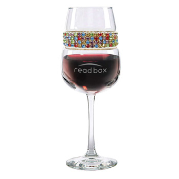 Footed Wine Glass Confetti Bracelet