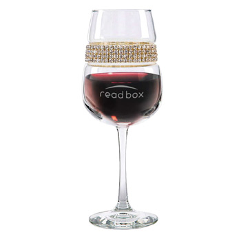 Footed Wine Glass Gold Bracelet