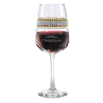 Footed Wine Glass 24 Karat (Gold/Silver) Bracelet