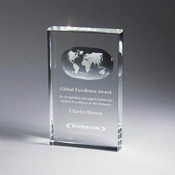 Optic Crystal Globe Tablet