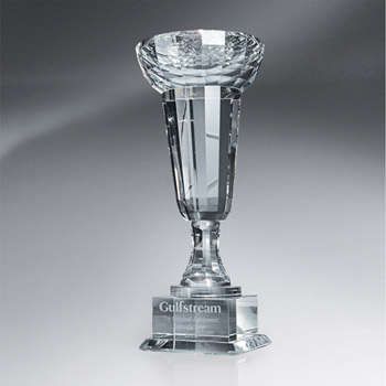 Crystal Towers Cup-shaped Trophy (lrg)