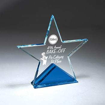 Clear Star with Blue Triangle Base, Small