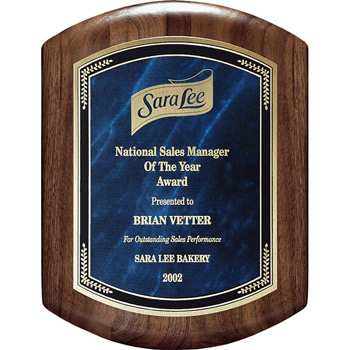 Barrel Plaque w/ Marble Mist (med)