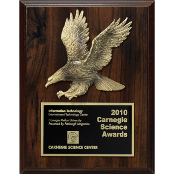 Walnut Finish Plaque w/ Star Or Eagle