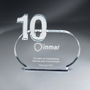 10 Years of Service Lucite Contour