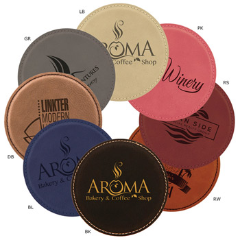 Leatherette Round Coaster