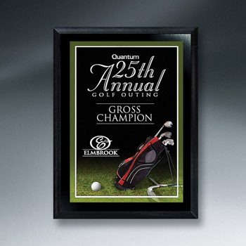 Ebony Finish Golf Plaque (med)