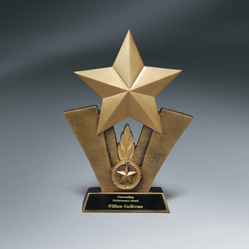Bronze Resin Star Trophy w/ Plate