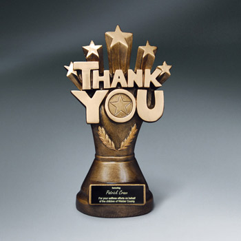 Resin Thank You Trophy w/ Plate
