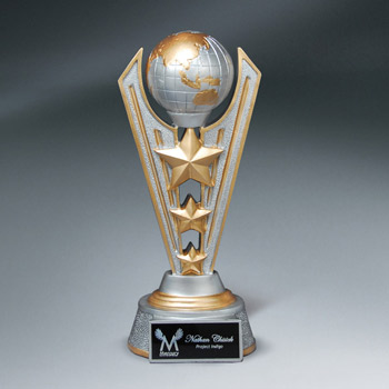 World Victory Resin Trophy w/ Plate