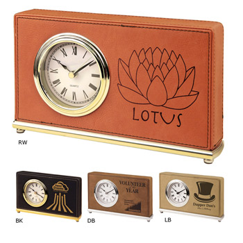 Leatherette Rectangle Clock