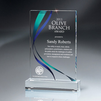Digi-Color Lucite Award (med)