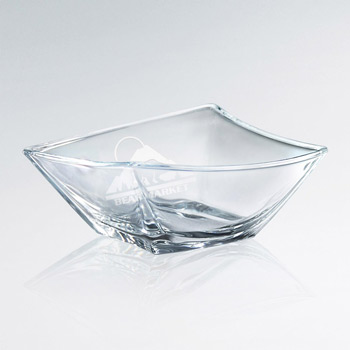 Artistic Skewed Glass Bowl (lrg)