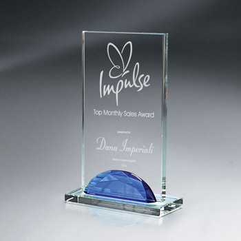 Optic Crystal Gemstone Award-Medium