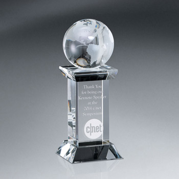Optic Crystal Globe Tower