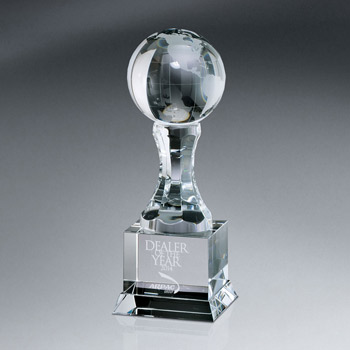 Globe Awards On Pedestal w/ Base (lrg)