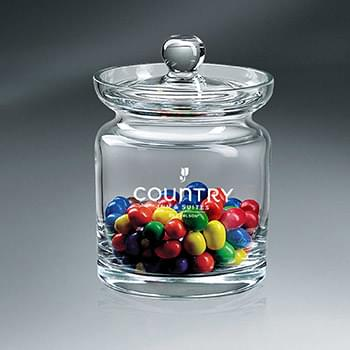 Crystalline Candy Jar with Lid (Lead-Free)